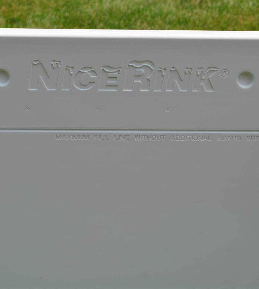 Backyard Rink Plastic Board with NiceRink Logo