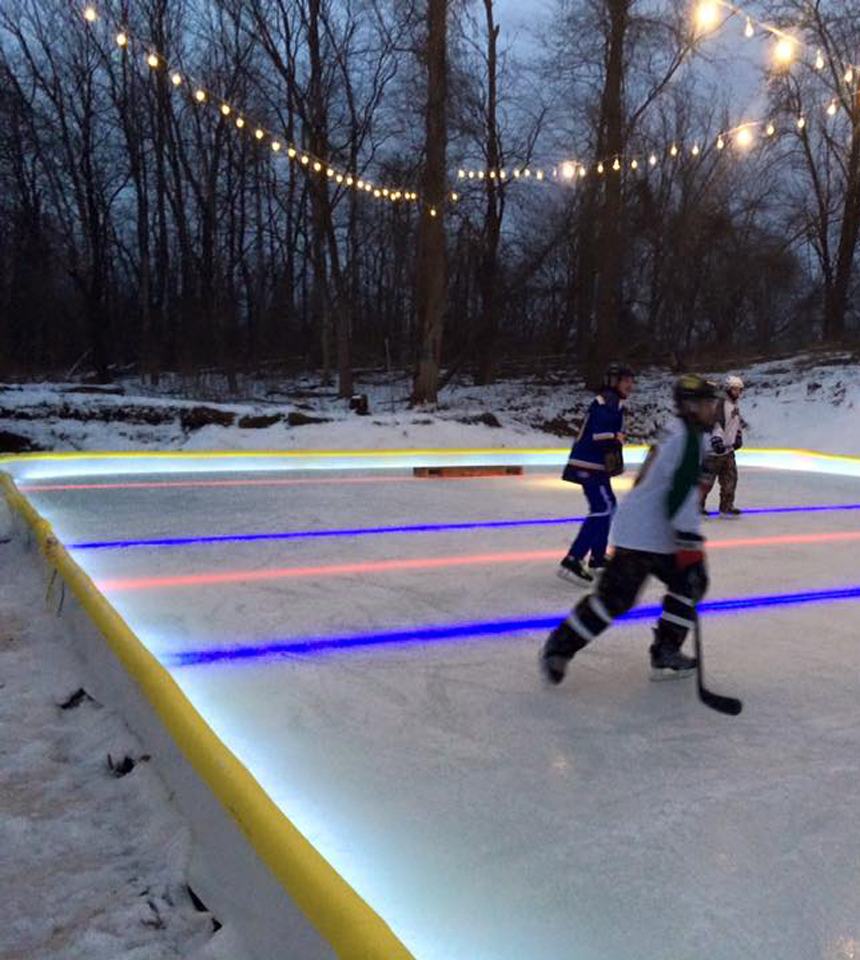 """Court with White """"Perimeter""""-Under the Liner Led Nicelights by NiceRink"""