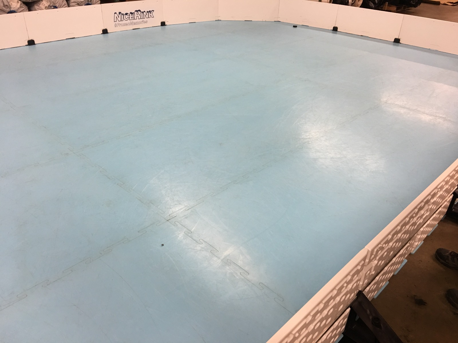 "NiceIce Synthetic Ice 4' x 10' Panel (10 years ""per side"") by NiceRink"
