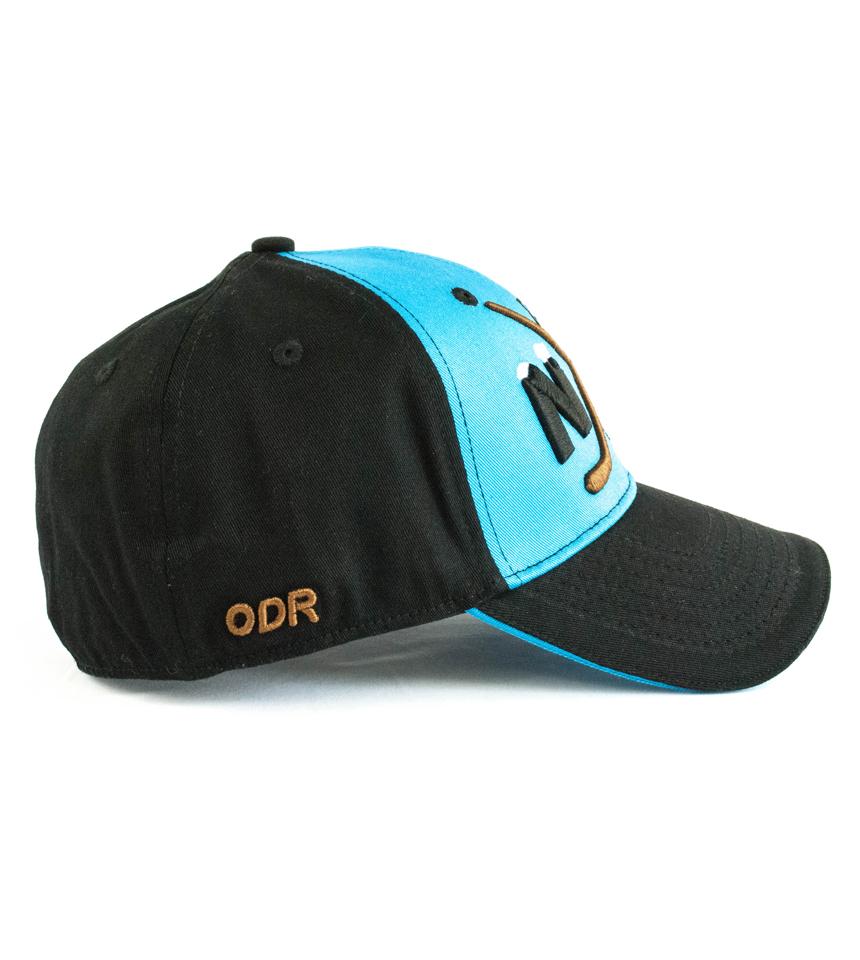 """Blue/Black Hat NiceRink """"Crossed Sticks"""" ODR"""