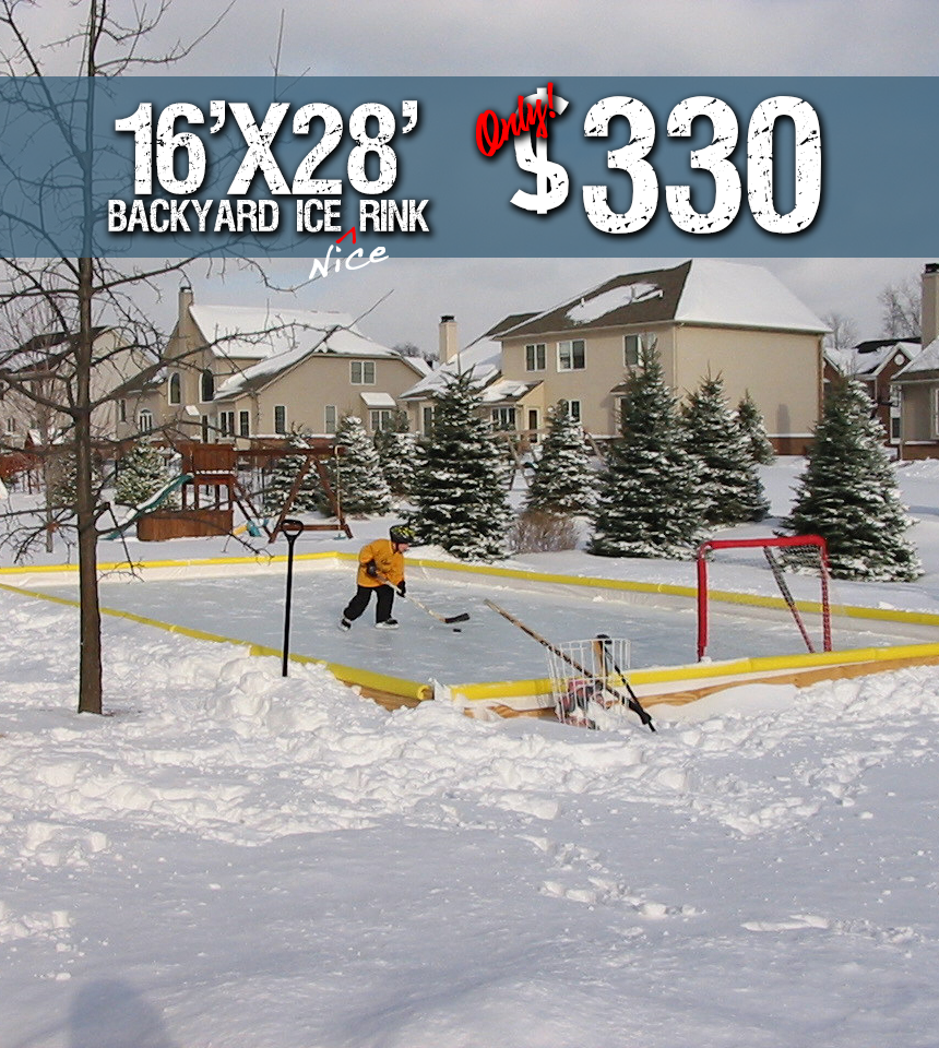 Nicerink 16' x 28' Rink-In-A-Box (CANADA Shipping) by NiceRink