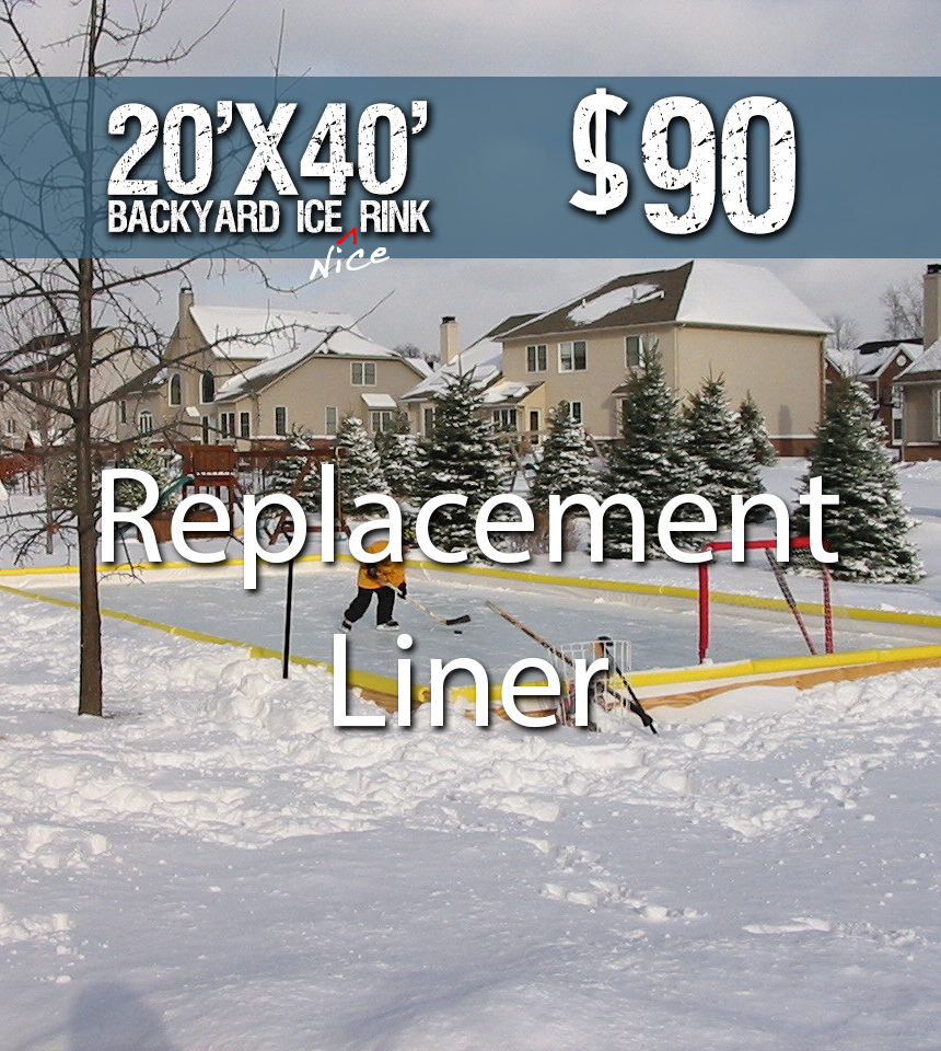 25' x 45' NRCS Rink-in-a-Box Replacement Liner by NiceRink
